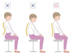 how sit at desk comfortably