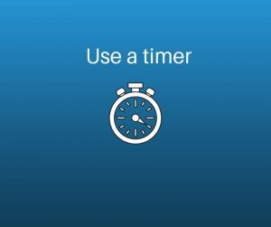 use a timer